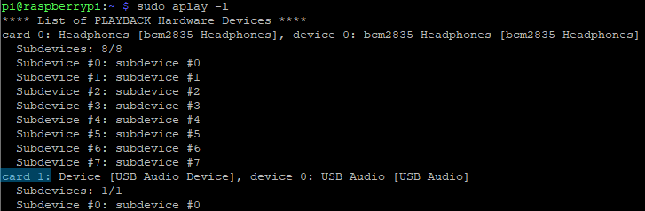 Raspberry Pi: USB-Soundkarte mit aplay identifizieren