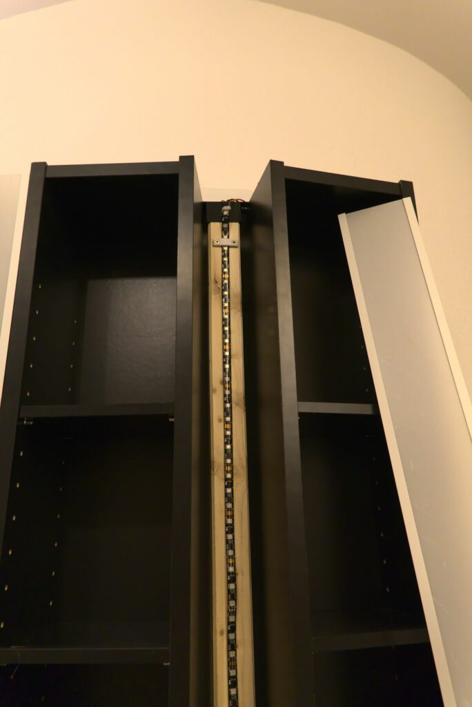 LED-Regal: verbaute LED-Streifen