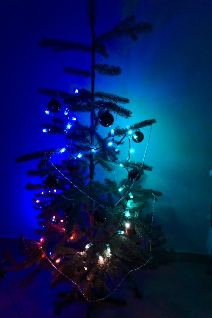 LED-String am Weihnachtsbaum