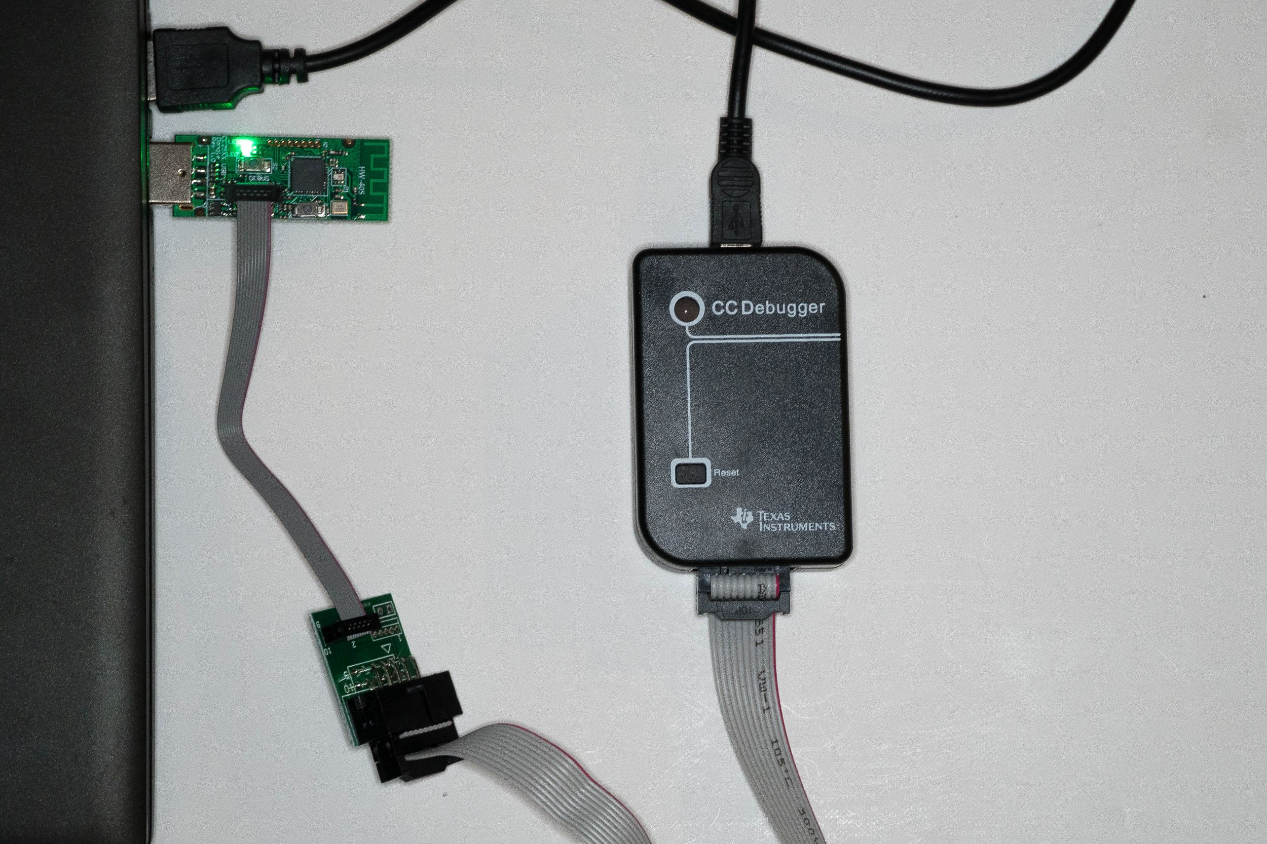 CC2531, CC-Debugger und PC verbinden