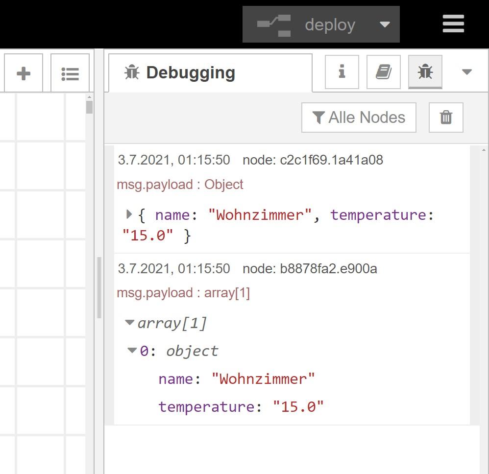 Node-RED Dashboard: Dynamisches UI - Einzelner Eintrag im flow-Context